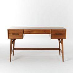 Mid-Century Desk - Acorn   west elm - $600
