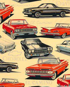 Chevy El Camino Print