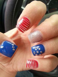July 4th nails ♡♡♡