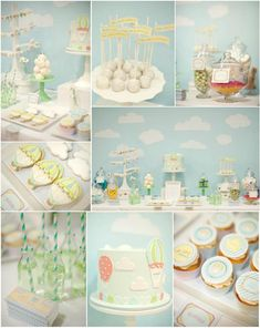yellow and green baby shower, boy baby showers, air balloon baby shower, baby shower ideas, balloon party, blue green, hot air balloons baby shower, baby shower themes, babi shower
