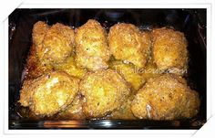 Baked Parmesan Chicken •6-8 Boneless, Skinless Chicken  •1 Stick of Melted Butter  •2 TSP Minced Garlic •1 Cup Italian Bread Crumbs •2/3 Cup Parmesan Cheese •1 TSP Dried Basil •Salt, to taste (opt)