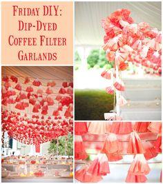 Coffee filter garland DIY