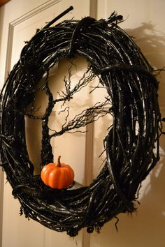 This wreath is perfect for your Halloween party or your front door for all the trick or treaters to admire! It brings on chills with its