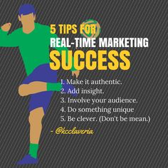 5 tips for real-time marketing success
