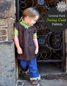 Central Park Swing Coat by themotherhuddle: So adorable and free PDF. Thanks Destri : ) #Sewing #themotherhuddle #Kids #Swing_Coat #Coat