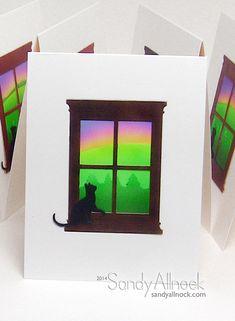 door card, nana card, awesom card, card mojo, window card, kitti window, creativ card, cat card, featur window