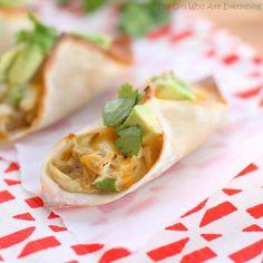 chicken verde wonton taco