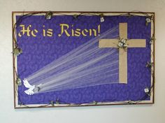 Easter Church Bulletin Board Idea