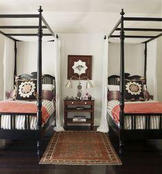 Twin canopy beds | Martyn Lawrence Bullard...