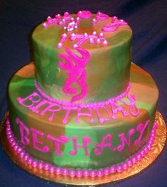 Birthday Cakes - Browning Camo Pink Cake