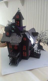 my finished Cricut haunted house