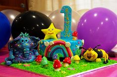 Yen Oon shared this special homemade cake!! Wow! This cake truly is so bright and impressive! #GBbirthday
