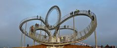 Crouching Tiger and Turtle, The Roller Coaster Walkway.  Duisburg, Germany
