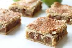 These Apple Pie Bars are the perfect handheld dessert and SO delicious! Made with a fresh apple filling, homemade double crust, and a sweet vanilla glaze!