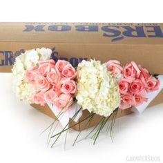 DIY Wedding Flowers: Roses & Hydrangea (small box) - $329.99