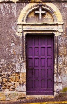 Purple door #church #doors