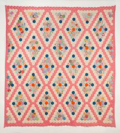 "Flower Garden in Diamonds, date unknown 75"" x 80"" 