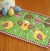 Easter Chicks Mug Rug - via @Craftsy