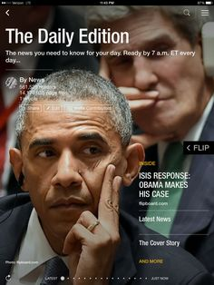 Obama makes his ISIS case, Jeter's baseball end and enviable kitchens. Check out today's edition: flip.it/dailyedition