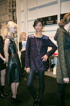 The complete Emerson Fall '13 look from head to toe. Fashion Week with Bobbi Brown Cosmetics