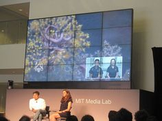 Chatting with researchers on the Nautilus live expedition during #MLTalks with Joi Ito and Katy Croff Bell .