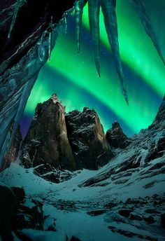 I might be willing to travel somewhere really cold to see a sight like the northern lights.....