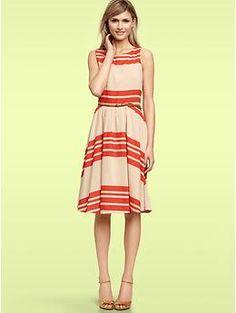 Striped swing dress | Gap