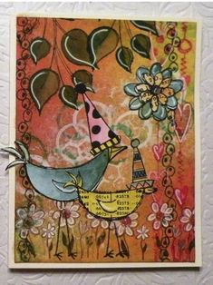 Cards using Dylusions by Ougot2 - Cards and Paper Crafts at Splitcoaststampers