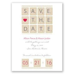 Word Games - Watermelon - Save the Date