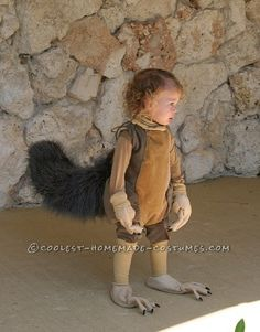 Cool Ice Age Scrat and Acorn Homemade Costume for Kids... Coolest Halloween Costume Contest