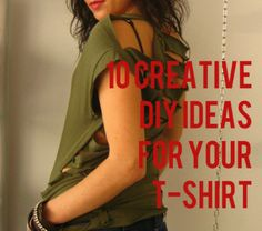 10 Creative DIY Ideas For Your T- Shirt – Ebook – Tutorial – DIY Ideas by:-knowtheropes