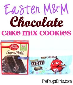 Easter M&M Chocolate Cake Mix Cookies Recipe! ~ from TheFrugalGirls.com ~ these 4 ingredient cookies couldn't be easier and they're SO yummy! #cookie #dessert #recipes #thefrugalgirls