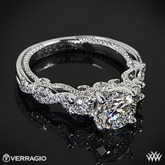 Verragio Braided 3 Stone Engagement Ring with a 1.035ct A CUT ABOVE  its just so pretty!!!!!!!!!!