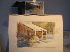 Watercolor Painting demonstration step by step by Roland Lee
