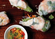 vietnamese summer rolls - replace rice wrapper with lettuce