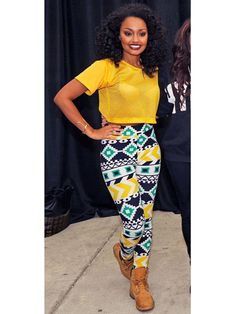 Leigh-Anne knows how to rock a crop top - and keep it appropriate for BTS!