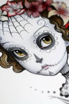 Dia de los Muertos - Adonica -  8x10 Limited Edition Signed Art Print - by Mab Graves via Etsy.
