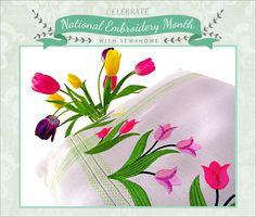 free embroideri, tulip, sew idea, stitch, machin embroideri, embroideri design, embroidery designs