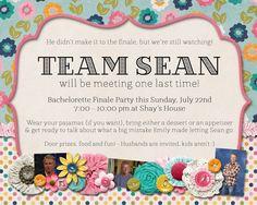 Slightly Askew Designs - Team Sean Watch Party Invitation
