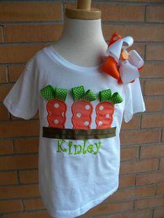 Ribbon Carrots Easter Applique Shirt