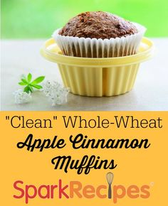 Love these! I wrap them individually and freeze them when I want a snack or a quick breakfast. | via @SparkPeople #breakfast #muffin #healthy #cleaneating