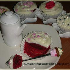 Cupcakes de red velvet con glaseado de queso (y... ¡otro premio best blog!) sin mantequilla
