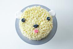 diy polar, polar bears, cakes, cooki decor, frosti polar, food, cooking, cuisin, bear cake