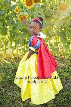 Snow White Princess Dress Costume Girls by 7dwarfsworkshop on Etsy