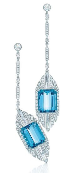 Tiffany & Co. 2014 Blue Book Aquamarine Earrings