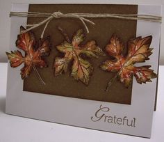 Stamping with Loll: Falling Maple Leaves