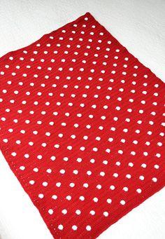 Intarsia Polka-Dot Baby Blanket - Free Knitting Pattern