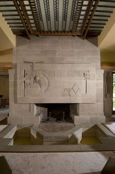 interior, fireplac setup, living room fireplace, fireplac detail, hollyhock house