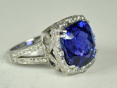 Tanzanite and Diamond Platinum Ring... it's only 15k. A girl can dream...