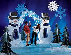 parade float ideas - snowman